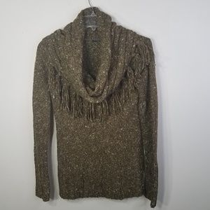Kensie olive green cowl neck sweater size M